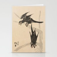 bouletcorp Stationery Cards featuring Microraptors by Bouletcorp