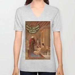 Belle of Nelson  / Whiskey poster Unisex V-Neck