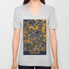 Dortmund - Germany Bluefresh City Map Unisex V-Neck