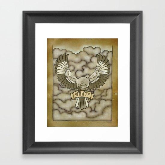 Mockingbird tattoo print Framed Art Print