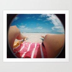 summertime and the livin's easy Art Print