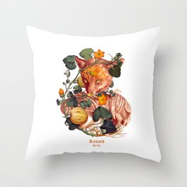 Renard the Fox Throw Pillow