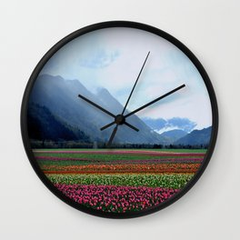 Carpet of Tulips Wall Clock