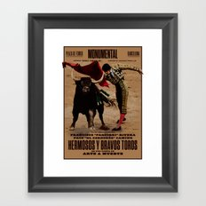 Hermosos y Bravos Toros Framed Art Print