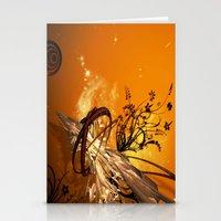 orange pattern Stationery Cards featuring ORANGE PATTERN by Ylenia Pizzetti