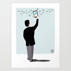 Serial Twitter Art Print