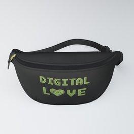 Digital Love Love Heart for Nerds or Pixel geek Fanny Pack