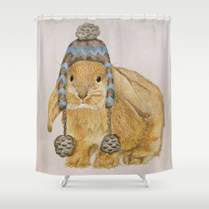 Winter Bunny Shower Curtain