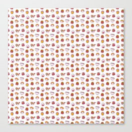Kawaii sushi pattern Canvas Print
