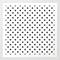 dots Art Prints featuring Dots by Kings in Plaid
