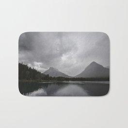 Landscape Montana Lake and Mountains Bath Mat