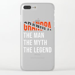 Trinidad And Tobago Grandpa Legend Fathers Day Clear iPhone Case