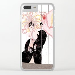 """Art Deco Illustration """"The Bird Cage"""" by Erté Clear iPhone Case"""