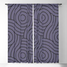 Circle Swirl Pattern Purple, Inspired By Mystical Purple - Metropolis Lilac - Dried Lilacs Blackout Curtain