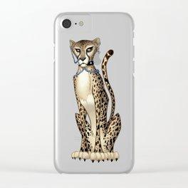 Goth Cheetah Clear iPhone Case