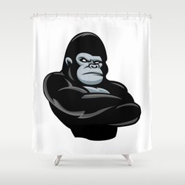 angry  gorilla.black gorilla Shower Curtain