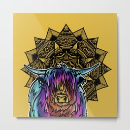 Highland Cow- Catalyst Ranch Metal Print