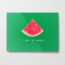 A slice of summer Metal Print