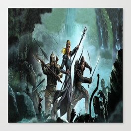 fighters lord of the ring Canvas Print