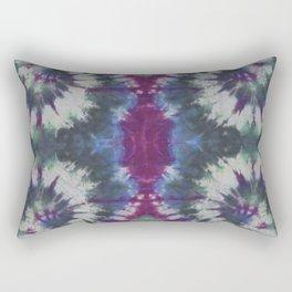 Mirror Spiral Tie Dye Purple Blue Green Rectangular Pillow