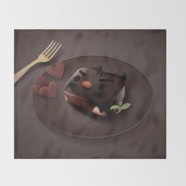 Chocolate Brownie Throw Blanket