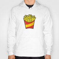 fries Hoodies featuring French Fries by Sifis