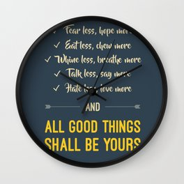 All good things shall be yours Wall Clock