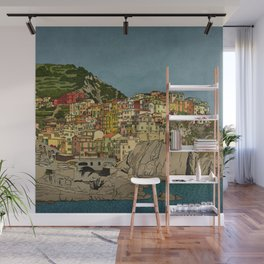 Of Houses and Hills Wall Mural