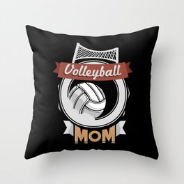 Volleyball Mom - Team Biggest Fan Mother Throw Pillow