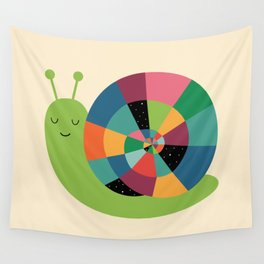 Snail Time Wall Tapestry