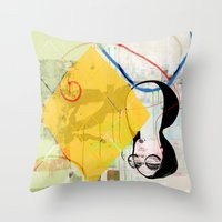 sunshine Throw Pillows featuring Sunshine by John Murphy