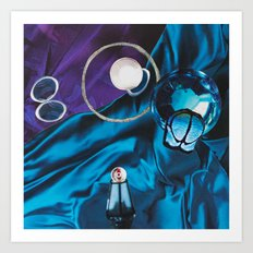 Deep Blues Reflecting Orbs of Bliss Art Print