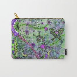 Pretty Retro Forest Creatures Carry-All Pouch