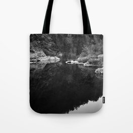 Shoreline Reflection On the Water Tote Bag