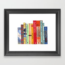 Bright Books Framed Art Print