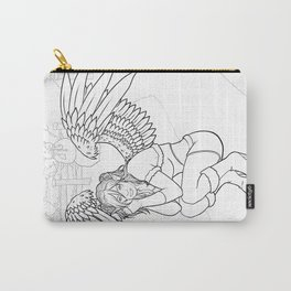 Morigan: Snow Angel Line Art Carry-All Pouch