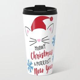 meow christmas Travel Mug