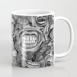 BITE ME roses and orchids BLACK WHITE Coffee Mug