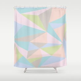 Pastel Triangles Shower Curtain