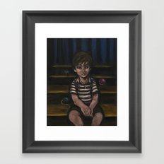 Halfway down the stairs Framed Art Print
