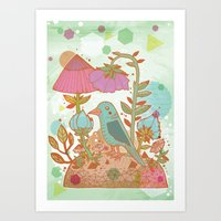 The Blue Bird Art Print