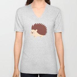 Cute Animal Cartoons Cute Hedgehog Cartoon Unisex V-Neck
