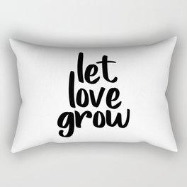 Let Love Grow, Wedding Table Signs, Favours, Decorations, Inspirational Art Rectangular Pillow