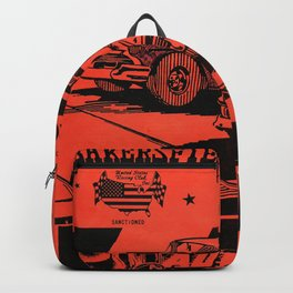 Vintage Auto Races Poster Backpack