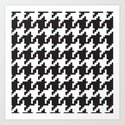 Houndstooth - Black & White by dizanadesigns