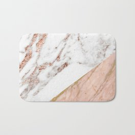 Marble rose gold blended Bath Mat
