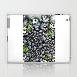 Skulls and Chrysanthemums Laptop & iPad Skin
