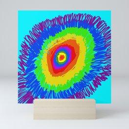 rainbow explosion Mini Art Print