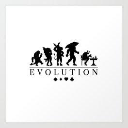 Poker Darwinism Art Print