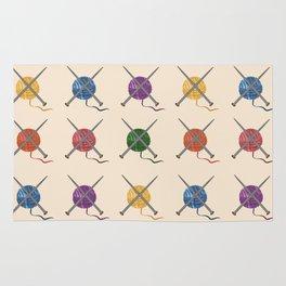 Crafty Yarn Knit Pattern Rug